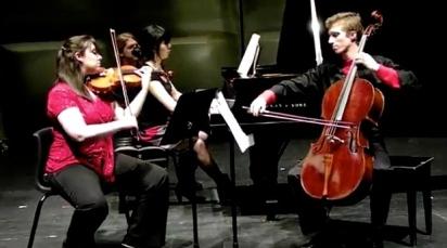 Trio Benterria, with Benjamin Marmen (Vc.) and Ria Kim (pno)