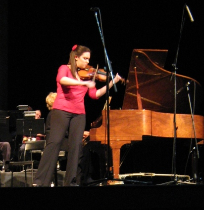 Performing at the Riverview Arts Center in 2009